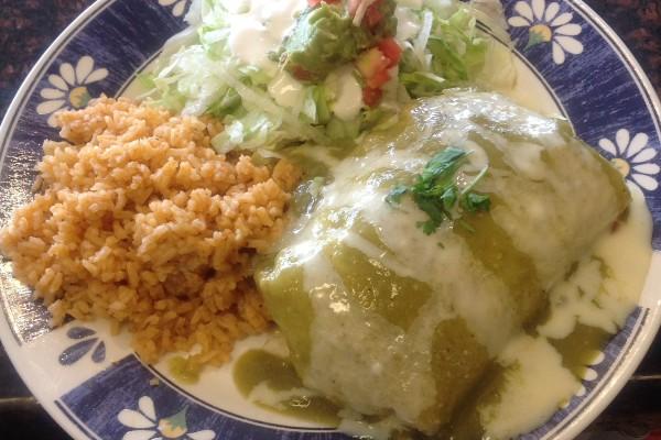 Bertos Smothered Burrito Combo #7